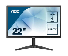 "Монитор 21.5"" TFT AOC 22B1H (TN/1920x1080/5 ms/200кд/VGA/HDMI) Black"